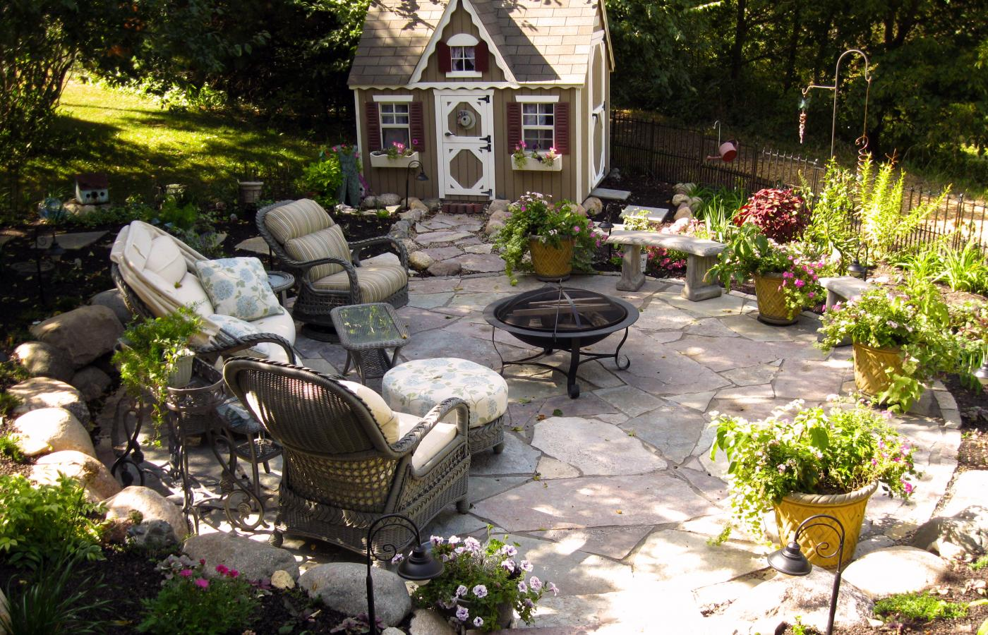 Hillside Patio